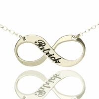 Engraved Infinity Name Necklace Silver