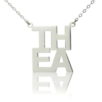 Silver Letter Name Necklace