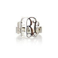 Personalized Silver Monogram Ring