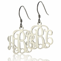 Personalized Sterling Silver Monogram Earring