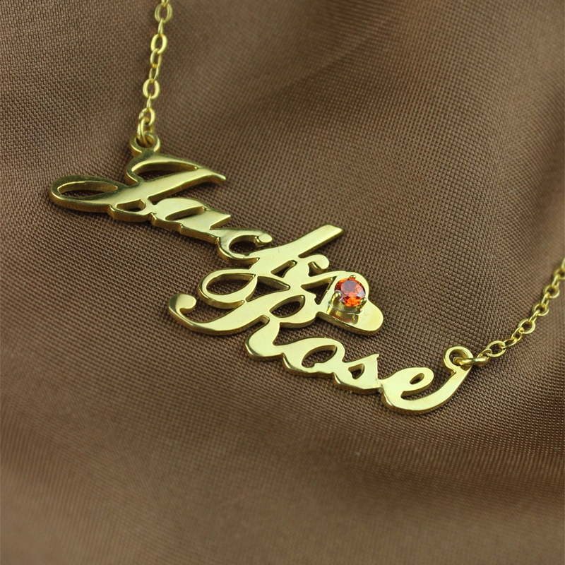 how much is a gold name necklace