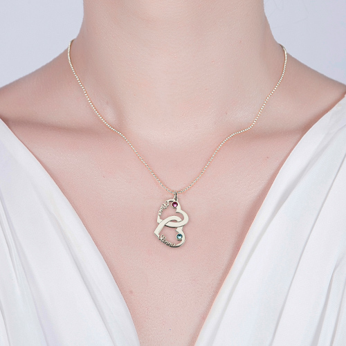 heart name necklace