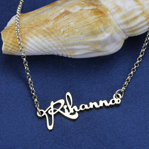 celebrity name necklace