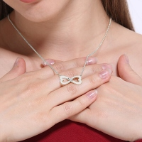 Infinity Heart-Shaped Necklace