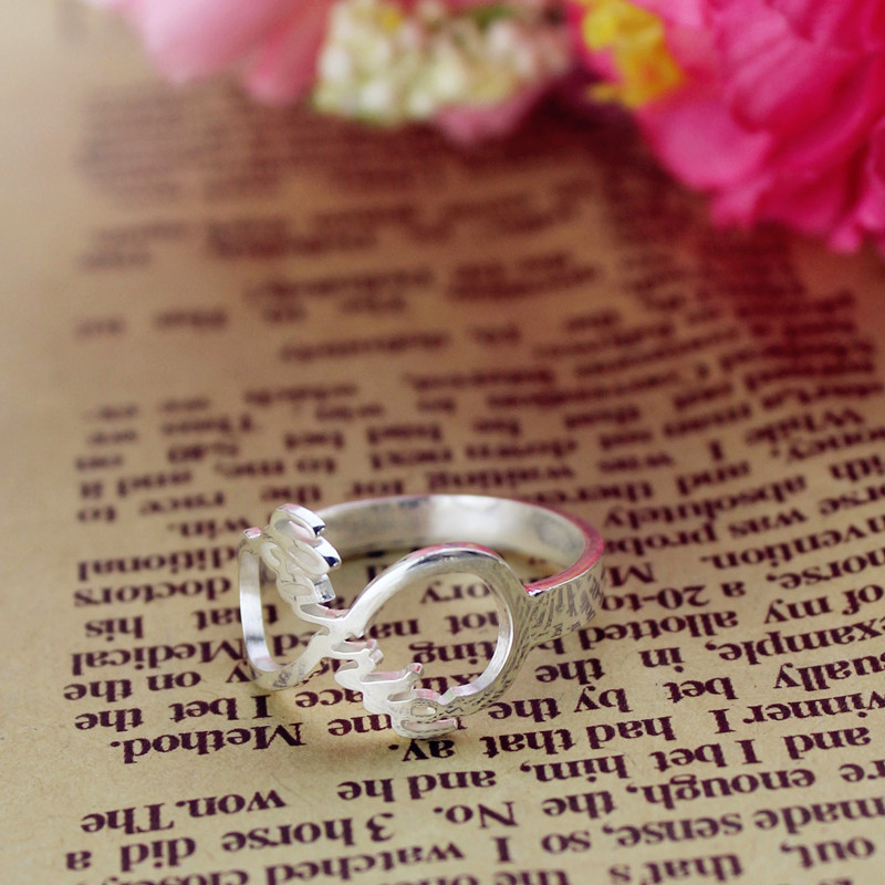 White Gold Infinity Rings