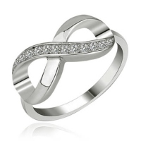 "Infinity-Ring ""Crystal Love"", Sterling Silber"